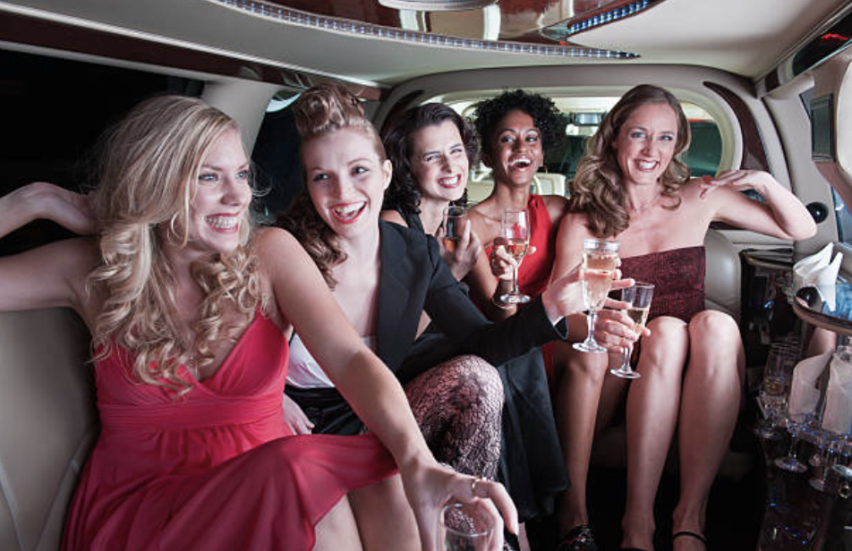 group of women limo service green bay wi